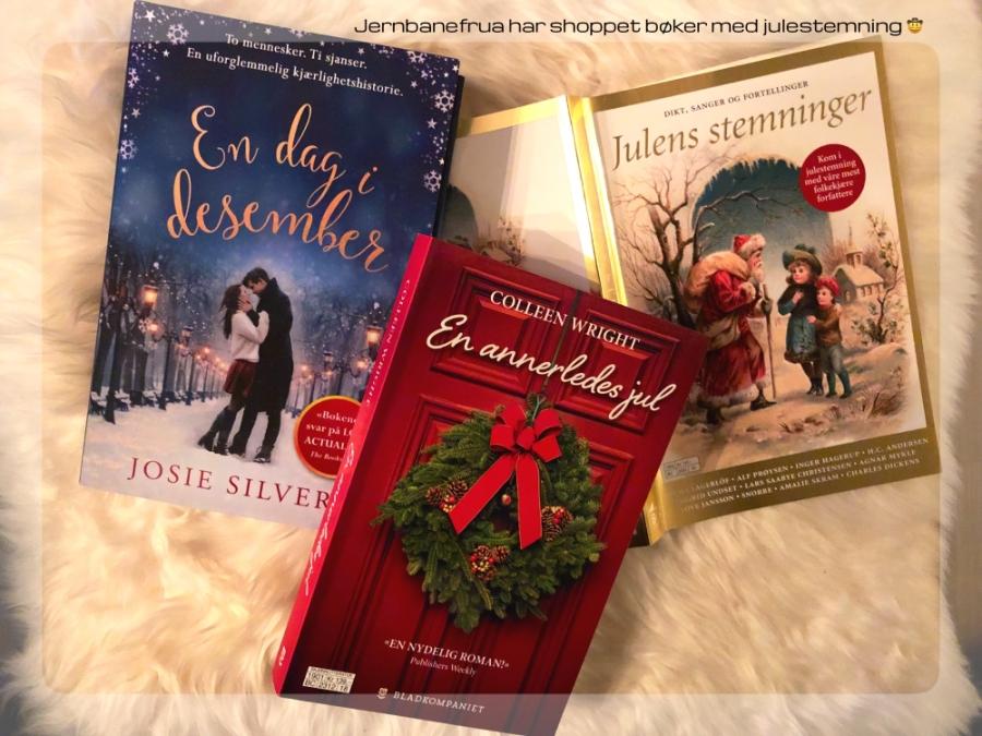 en dag i desember, julens stemninger, en annerledes jul. tre gode bøker.