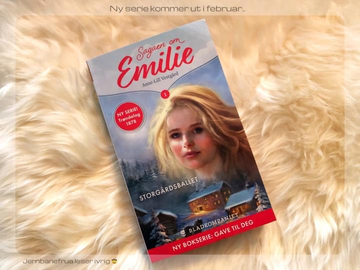Jernbanefrua har fått første bok av Sagaen om Emilie.