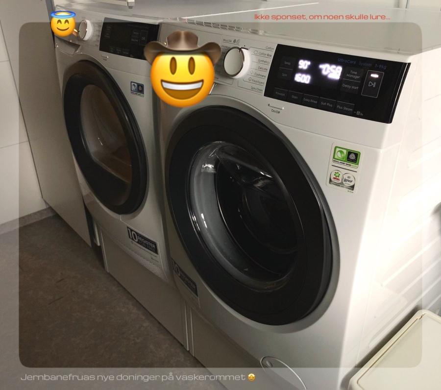 Jernbanefruas tørketrommel og vaskemaskin.