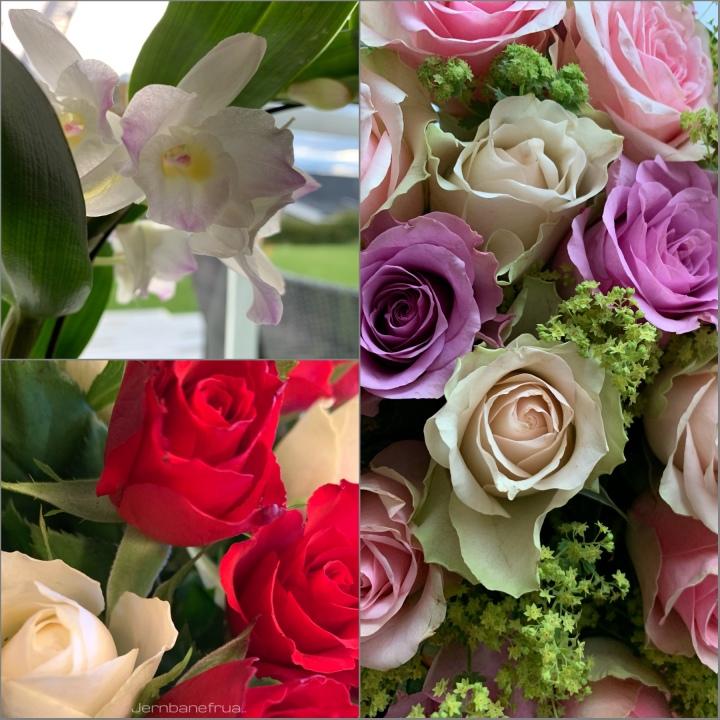 God bedring blomster til gemalen.